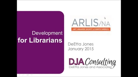 Thumbnail for entry Development for Librarians with DeEtta Jones (Part One)