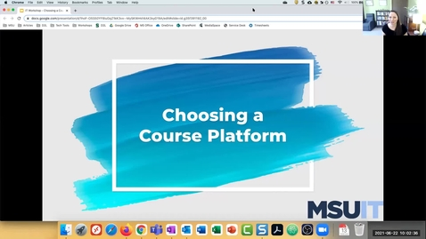 Thumbnail for entry IT Virtual Workshop - Choosing a Course Platform (06.22.2021)