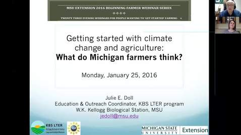 Thumbnail for entry Getting started with climate change and agriculture:  What do MI farmers think?