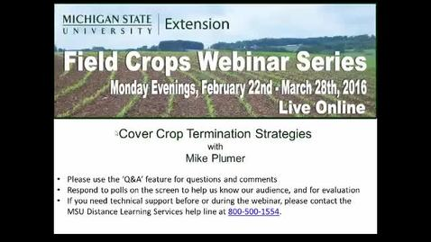 Thumbnail for entry Cover Crop Termination Strategies