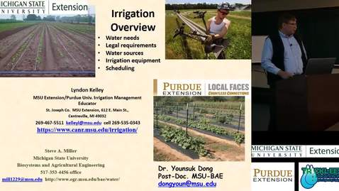 Thumbnail for entry Specialty Crop Irrigation - Irrigation Overview - Lyndon Kelley