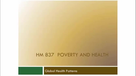 Thumbnail for entry Global Health Patterns