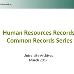 Thumbnail for channel University Archives and Historical Collections