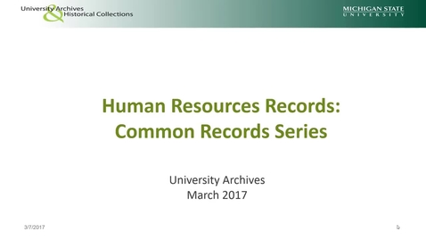 Thumbnail for entry Common Human Resources Record Series