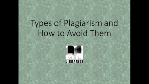 Thumbnail for entry What is Plagiarism?
