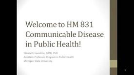 Thumbnail for entry HM 831 Communicable Disease in Public Health