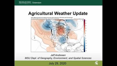 Thumbnail for entry Agricultural weather forecast for July 29, 2020