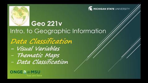 Thumbnail for entry GEO 221v: Data Classification