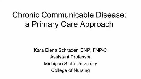 Thumbnail for entry Chronic Communicable Disease Narrated 2020 Part 1