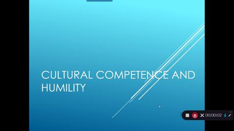 Thumbnail for entry Module 6 Cultural Competence and Humility