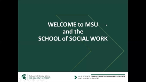 Thumbnail for entry Introduction to MSW Program
