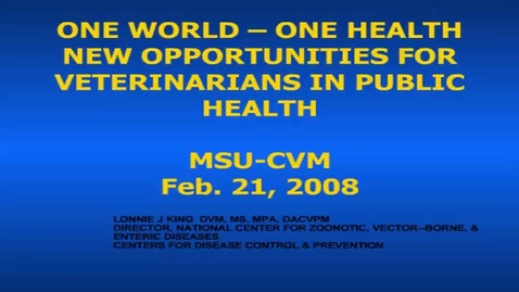 Thumbnail for entry HM852OneWorldOneHealth
