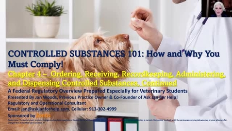 Thumbnail for entry VM 509 Controlled Substances Part 4