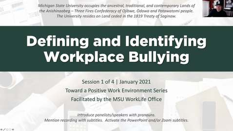 Thumbnail for entry Defining and Identifying Workplace Bullying
