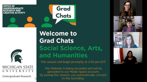 Thumbnail for entry Grad Chats in the Social Sciences, Arts, and Humanities
