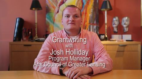 Thumbnail for entry Josh Holliday - Arts Council of Greater Lansing