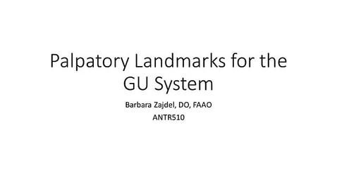 Thumbnail for entry ANTR510 Palpatory Landmarks GU - Zajdel