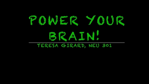 Thumbnail for entry Power Your Brain!
