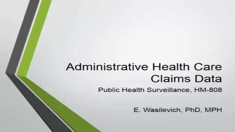 Thumbnail for entry HM808administrativeandhealthcareclaimsdata