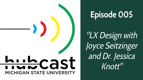 "Thumbnail for entry 005 ""LX Design with Joyce Seitzinger and Dr. Jessica Knott"""