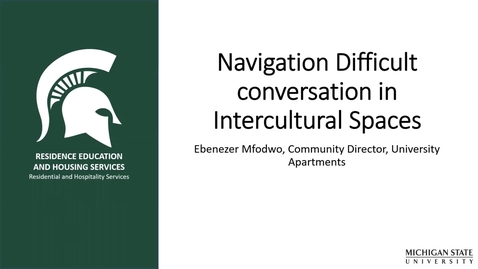 Thumbnail for entry Navigating Difficult Conversations