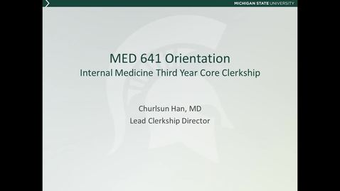 Thumbnail for entry MED641 orientation 1 -  introduction