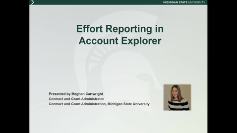 Thumbnail for entry Effort Reporting in Account Explorer (M. Cartwright)