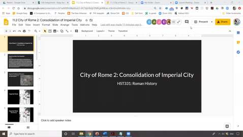 Thumbnail for entry Lecture 11.2 City of Rome 2: Consolidation of Imperial City