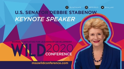 Thumbnail for entry WILD KEYNOTE: U.S. Senator Debbie Stabenow