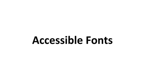 Thumbnail for entry Accessible Fonts