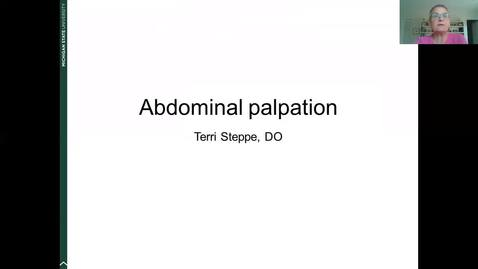 Thumbnail for entry ANTR510 Abdominal Palpation - Steppe