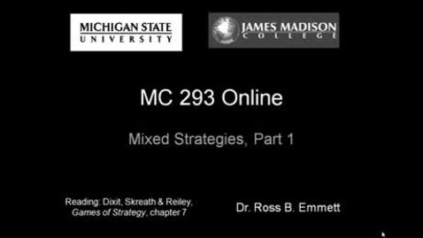 Thumbnail for entry Mixed Strategies, Part 1