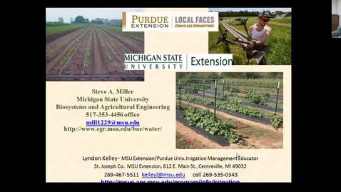 Thumbnail for entry Irrigation on small farms