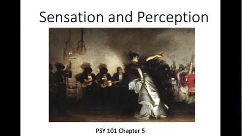Thumbnail for entry Part 1 Introduction  _Sensation v. Perception