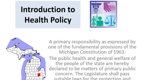 Thumbnail for entry Health Policy Development