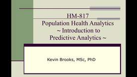 Thumbnail for entry HM817 IntroductionPredAnalytics