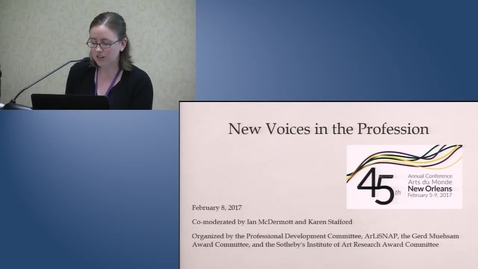 Thumbnail for entry New Voices in the Profession, 2017 ARLIS/NA New Orleans Conference