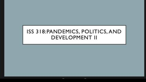 Thumbnail for entry ISS 318 9.Politics II