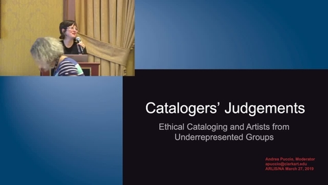 Thumbnail for entry Cataloger's Judgements: Ethical Cataloging and Artists from Underrepresented Groups