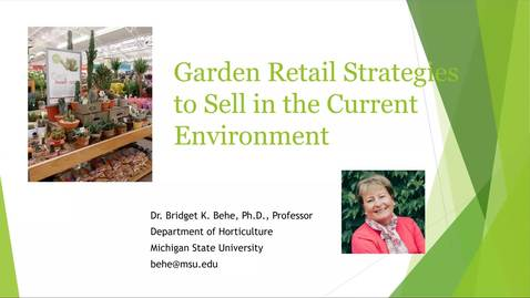 Thumbnail for entry Garden Retailer Strategies for the Current Sales Environment