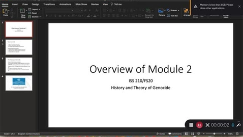 Thumbnail for entry Lecture 2 - Overview of Module 2