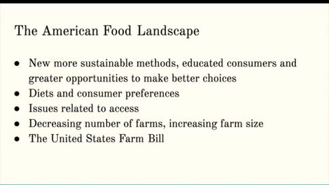 Thumbnail for entry ISS310: The American Food Landscape