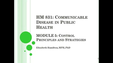 Thumbnail for entry Module 5_disease control