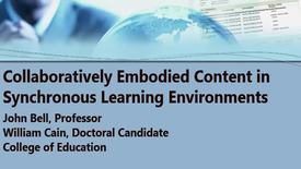 Thumbnail for entry Collaboratively Embodied Content in Synchronous Learning Environments -Brown Bag 09.16.16