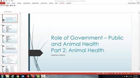 Thumbnail for entry VM 501-Mod 5 Role of Gov AH 2