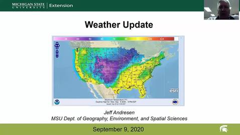 Thumbnail for entry Agricultural weather forecast for September 9, 2020