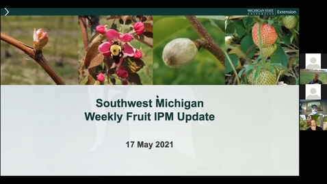 Thumbnail for entry SW Michigan Fruit Update May 17, 2021