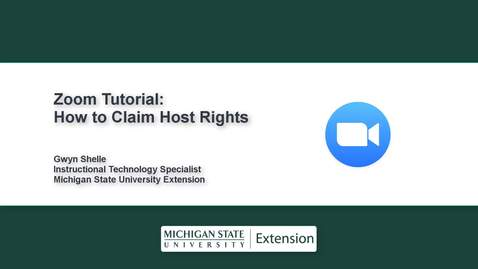 Thumbnail for entry Zoom Tips: How to Claim Host Rights