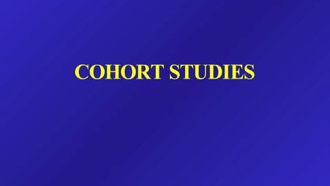 Thumbnail for entry HM803 sec730 Cohort