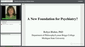 A New Foundation for Psychiatry?